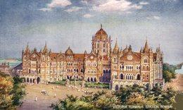 Victoria Terminus Station, Bombay. INDIA // INDE. - India