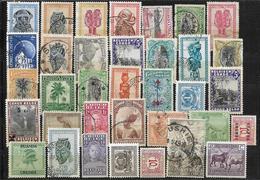 Belgian Congo & Ruanda-Urundi, Lot Of Different Stamps - Congo Belga
