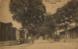 Poland Germany, KREUZ OSTBAHN, Krzyż Wielkopolski, Bahnstrasse (1915) Pomerania - Pommern