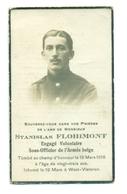 WO1 / WW1 - Doodsprentje Flohimont Stanislas - Harzé /  - Gesneuvelde - Obituary Notices