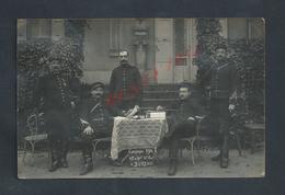 MILITARIA CARTE PHOTO MILITAIRE TRACE DE COLAGE GROUPE DE SOLDATS 45e Art PHOTO OLIVIER GEORGES DE ISLE ADAM : - Personnages