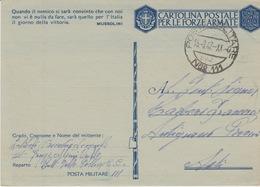 MILITARI -A / 2^ GUERRA MONDIALE 1939/45 - POSTA MILITARE N°111 - Oorlog 1939-45