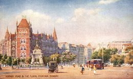 Hornby Road & The Floral Fountain, Bombay. INDIA // INDE. - India
