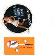 Autocollant Sticker Tennis Adidas Chesterfield  Sigaretten Cigarettes   Reclame Publiciteit Publicit Sport   2 Stuks/pcs - Autocollants