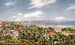 Bombay, Back Bay From Malabar Hill. INDIA // INDE. - India