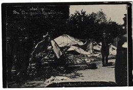 """Catastrophe Du Dirigeable """" République """" 25 Septembre 1909 Le Moteur Et La Nacelle (genre Carte-photo) - Dirigibili"""