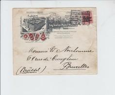 OC3 SUR ENVELOPPE PUB VAN DE PUTTE PIETERS -  DE BRUXELLES VERS BXL - CACHET ALLEMAND 1916 - Guerra 14 – 18