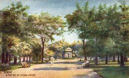 Bombay, A Peep Into The Victoria Gardens. INDIA // INDE. - India