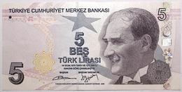 Turquie - 5 Livres Turques - 2013 - PICK 222b - NEUF - Turkije