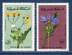 Maroc - YT N° 648 Et 649 - Neuf Sans Charnière - 1972 - Morocco (1956-...)