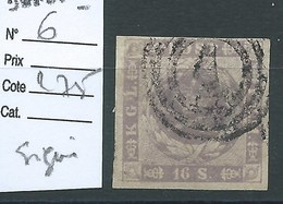 DANEMARK.  N° 6.   Cote 275 €. Signé Calves. - 1851-63 (Frederik VII)