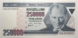 Turquie - 250000 Livres Turques - 1998 - PICK 211 - NEUF - Turkije