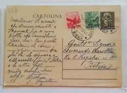 Cartolina Postale Siena-Pistoia - 21/12/0946 - 6. 1946-.. Repubblica