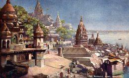 The Burning Ghat, Benares. INDIA // INDE. - India