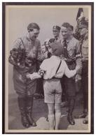 """DT- Reich (008391) Propaganda Sammelbild Adolf Hitler"""" Bild 166, Jungdeutschland Begrüßt Den Führer Im Wahlkampf - Deutschland"""