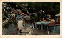 Street Scene And Lawries Hotel, Simia. INDIA // INDE. - India