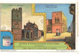 "S1241- CHROMO LIEBIG - 1930 -  "" JOYAUX D'ARCHITECTURE SICILIENNE "" : 4. TRAPANI - Liebig"