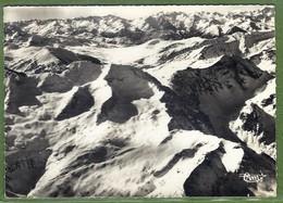 CPSM GF Rare - ARIEGE - PIC DE BARLANGUERE & PORT D'ORLE - PLA DE BERRET SIERRA DES ENCARTATS (Espagne) - Vue Aérienne - Francia