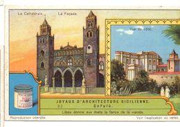 "S1241- CHROMO LIEBIG - 1930 -  "" JOYAUX D'ARCHITECTURE SICILIENNE "" : 2. CEFALU - Liebig"