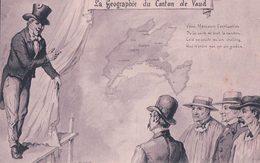 Géographie Du Canton De Vaud, Illustrateur L. Curtat, Le Canton, Litho (5650) - VD Vaud
