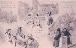 Géographie Du Canton De Vaud, Illustrateur L. Curtat, Grandson Orbe Yverdon, Litho (5654) - VD Vaud