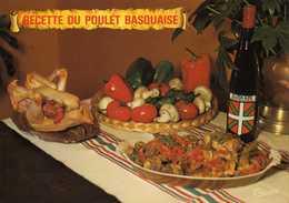 3102 - Recette Du Poulet Basquaise 4 Personnes - Vin Euscadi Pays Basque - Edit. Thouand Biarritz - Recipes (cooking)