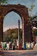 Great Arch And Iron Pillar, Kutub Minar, Delhi . INDIA // INDE. - India