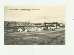 16 - NERSAC - Cp Rare Village De La MEURE - Gare Aux Pierres Animé Bon état - France