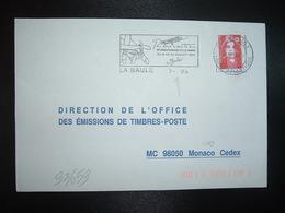 LETTRE TP M. DE BRIAR TVP ROUGE OBL.MEC. VARIETE 7.07.94 44 LA BAULE LOIRE-ATLANTIQUE + LA DANSE - Marcophilie (Lettres)