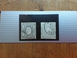 REGNO - Francobolli Per Stampati - Nn. 19-20d Timbrati + Spedizione Prioritaria - 1861-78 Victor Emmanuel II.
