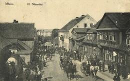Poland Germany, MŁAWA, Ul. Niborska (1915) East Prussia, Feldpost, Poland - Ostpreussen