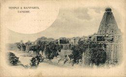 Temple & Ramparts Tanjore. INDIA // INDE. - India