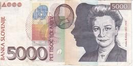 BILLETE DE ESLOVENIA DE 1000 TOLARJEV DEL AÑO 2002 SERIE SV  (BANKNOTE) - Slovenia
