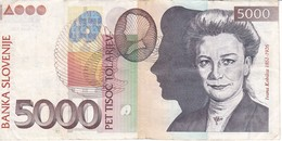 BILLETE DE ESLOVENIA DE 1000 TOLARJEV DEL AÑO 2002 SERIE SV  (BANKNOTE) - Eslovenia