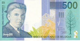 BILLETE DE BELGICA DE 500 FRANCOS DEL AÑO 1995 EN CALIDAD EBC (XF) DE RENE MAGRITTE  (BANKNOTE) - [ 2] 1831-... : Reino De Bélgica
