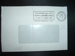 LETTRE OBL.MEC. VARIETE 14-6 1989 44 NANTES ROLLIN LOIRE ATLANTIQUE PRINTEMPS DES ARTS FESTIVAL DE MUSIQUE BAROQUE - Marcophilie (Lettres)