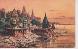 Benares And Ganges. INDIA // INDE. - India