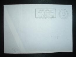LETTRE PORT PAYE OBL.MEC.15-10 1988 PP 44 REZE PONT ROUSSEAU VILLES JUMELEES LOIRE-ATLANTIQUE ET SARRE 15-16 OCTOBRE 198 - Mechanical Postmarks (Other)