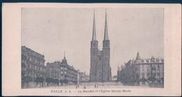 POSTAL ALEMANIA - HALLE A S - LE MARCHE ET L'EGLISE SAINTE MARIE - Halle (Saale)