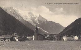 74 ARGENTIERE EGLISE LE VILLAGE HOTEL BELLEVUE  VALLEE DE CHAMONIX MONT BLANC EDITEUR BURGY LB 4924 - Chamonix-Mont-Blanc