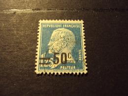 """1926-27 Oblitéré   N° 222    """"  PASTEUR Surchargé,   50c Sur 1.25 F  Bleu      """"      Net    1.50 - 1922-26 Pasteur"""