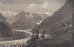 74 CHAMONIX MONT BLANC ELEGANTES AU BORD DU GLACIER DE LA MER DE GLACE EDITEUR BURGY 5703 - Chamonix-Mont-Blanc
