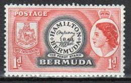 Bermuda Elizabeth II One Penny Single Stamp From The 1953 Definitive Set. - Bermuda