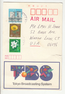 Tokyo Broadcasting System Illustrated Postal Stationery Postcard Posted 1992 Wayne Graczyk To USA B191210 - Interi Postali