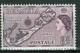 Bermuda Elizabeth II 3d Single Stamp From The 1953 Definitive Set. - Bermuda