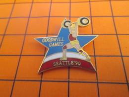 1719 Pin's Pins / Beau Et Rare : Thème SPORTS / HALTEROPHILIE GOODWILL GAMES SEATTLE 1990 - Gewichtheben