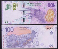 Argentina 100 Pesos P-new 2018 UNC Banknote - Argentina