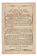 Maaseik  Doodsprentje 1848 HENRICUS HEYLIGERS WEDUWNAAR V MARIA ISABELLA OP'T EINDT - Godsdienst & Esoterisme