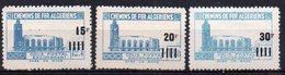 Algérie, Colis-postaux N° 164, 165 Et 166 Neufs * Avec Variété 'Surcharge Absente' - Parcel Post
