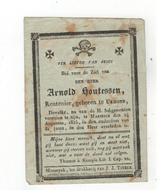 Maaseik  Doodsprentje 1835 Arnold Houtessen Rentenier - Godsdienst & Esoterisme
